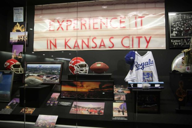 Display in lobby: KC likes sportsball!