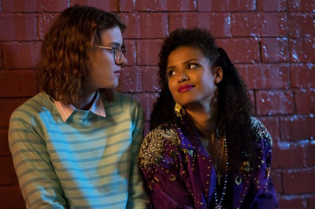 Black Mirror - San Junipero. Yorkie and Kelly. Photo: David Dettman-Netflix